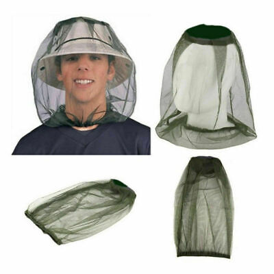 Face Travel Mosquito Camping Midge Net Insect Mesh Protector Hat Head-Bug New Sa