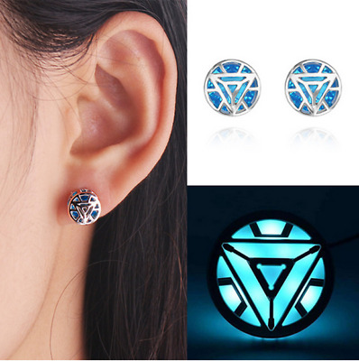 Avengers Endgame Iron Man Tony Stark  Ark Reactor Ear Studs Earring Cosplay Prop