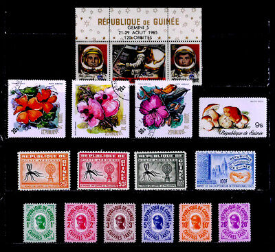 Guinea: 1960'S - 70'S Stamp Collection With Sets & Never Hinged