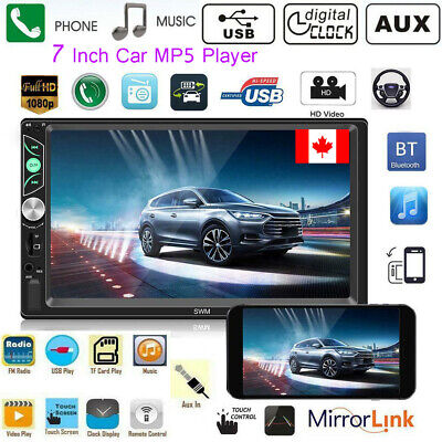 Bluetooth FM Player Stereo Radio Car 7'' HD MP5 Touch Screen Android IOS USB/TF