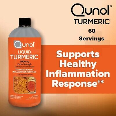 Turmeric Curcumin 1000mg Liquid Qunol Enhanced Absorption Formula 30.4oz 60 Dose