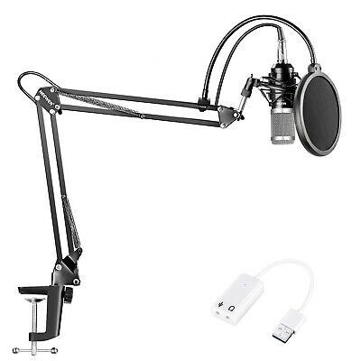 Neewer NW-800 Condenser Microphone (Black/Silver) Kit for Recording Broadcast