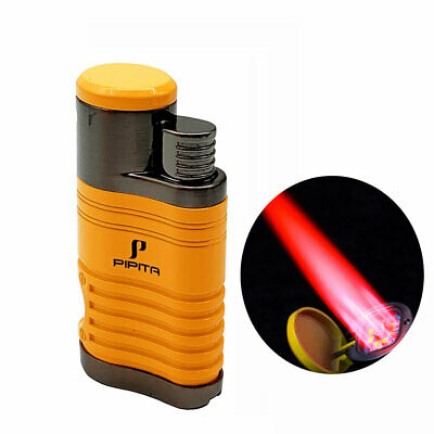 COHIBA Metal 4 Torch Cigar Cigarette Lighter Butane Jet Lighter Built-in Punch