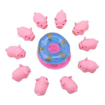 10pcs Pink A Little Lemon Rubber Pig Baby Bath Toy for Kid Baby Children JD