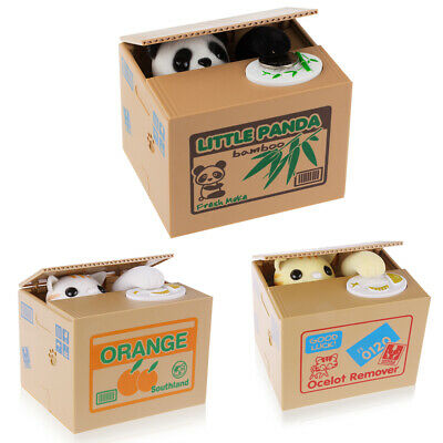 Boîte Tirelire Chat Economiser Piece de Monnaie Design Cute Animal Volent Cadeau