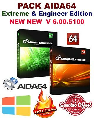 PACK AIDA64 Edition & Engineer ED - Latest Version - Keys - Fast Delivery