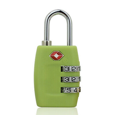 4-Dial TSA Combination Padlock Luggage Suitcase Bag Travel Security Lock Green