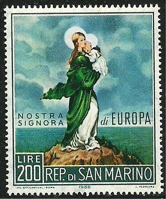"""SAN MARINO 1966 Very Fine MNH  Stamp Scott # 653 """" Our Lady of Europe """""""