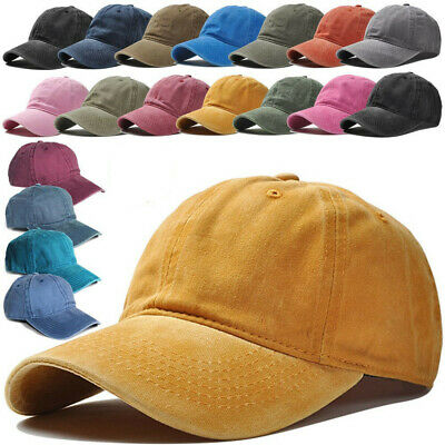4508b207 Mens Womens Vintage Washed Cotton Twill Low Profile Adjustable Baseball Cap