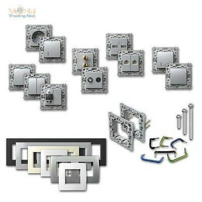 Module + Program Switch Socket Silver Flush Sockets Switch Switch