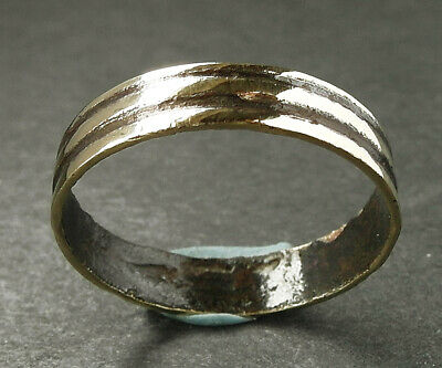 Large Genuine Ancient Celtic Bronze Ring - Uk Find