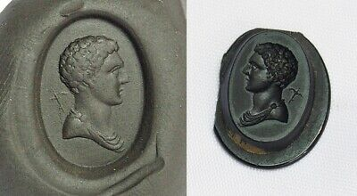WOW!! Ancient Authentic Agate Roman Emperor Best Detail Intaglio King Stamp Bead