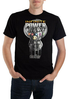 Marvel The Avengers Infinity War Infinite Power Thanos Gauntlet Men's T-shirt