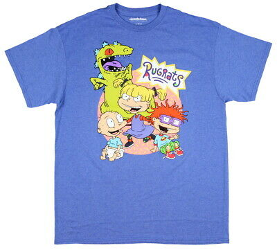 2dfc86ab Nickelodeon Rugrats Shirt Group Shot Angelica Tommy Chuckie Reptar Mens' T- Shirt