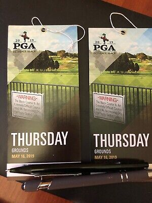 2 Grounds Tickets to PGA Tournament Thursday May 16th, 2019
