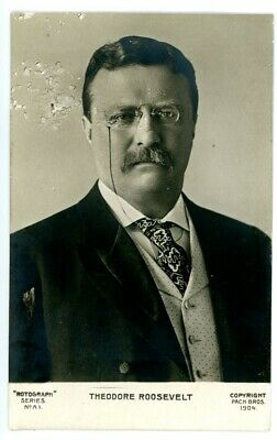 Political -PORTRAIT OF PRESIDENT THEODORE ROOSEVELT-RPPC Rotograph Postcard