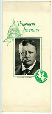 Political -THEODORE ROOSEVELT & CONNECTICUT MUTAL LIFE INSURANCE CO- Advertising