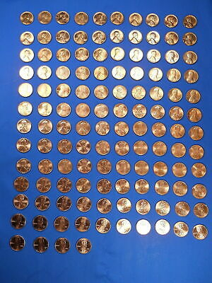1953-2019 Lincoln Cent Penny Set Complete 147 Coin Collection BU Wheat Shield