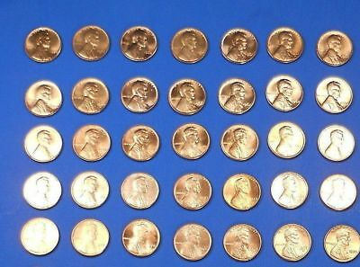 Lincoln Memor Cent Penny Set 1959-1974 Collection (36 Coins) Choice BU !