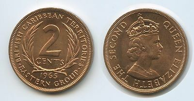 G12684 - British Carribean Territories 2 Cents 1965 KM#3 UNC Erhaltung