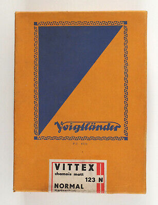 1940s Germany RARE VOIGTLANDER Photo Paper VITTEX 123N 100 UNOPENED 10,5x14,8cm