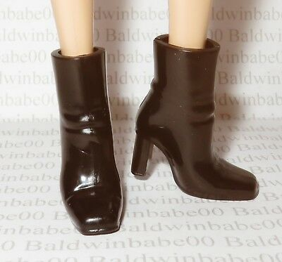 Hb ~ Shoes Barbie Doll X-Files 25Th Anniversary Dana Scully Black Ankle Boots
