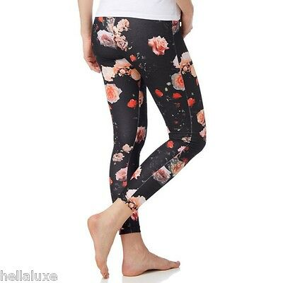 0afa772e88b35 Adidas Originals TREFOIL ROSES LEGGINGS Tight Yoga gym Running Pants~Womens  sz S