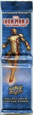 Lot of 10 - 2013 Upper Deck IRON MAN 3 Trading Cards Jumbo Rack 30 Pack Marvel