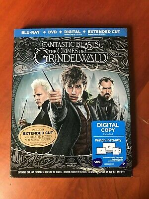 Fantastic Beasts: The Crimes of Grindelwald Blu-Ray+DVD+Digital+Extended Cut New