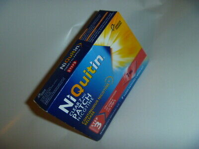 NIQUITIN CLEAR 7mg Patches x 7 Day Supply Step 3 Clear Nicotine Replacement BNIB