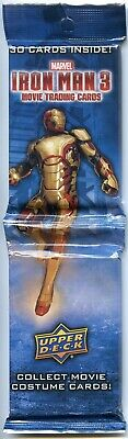 Lotto di 10 - 2013 Superiore Deck Iron Man 3 Carte Collezionabili Jumbo Rack 30