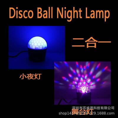 Soun Active RGB LED Stage Light Crystal Ball Disco Xmas Club DJ Party  W Remote