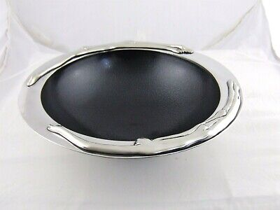 CaRRoL BoYeS Fruit Bowl-Conversation Stainless Steel Pewter New