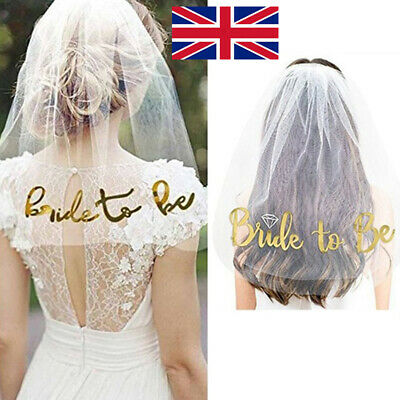 Veil Comb with Rose Gold Bride to Be Wedding Hen Night Bachelorette Party Do W
