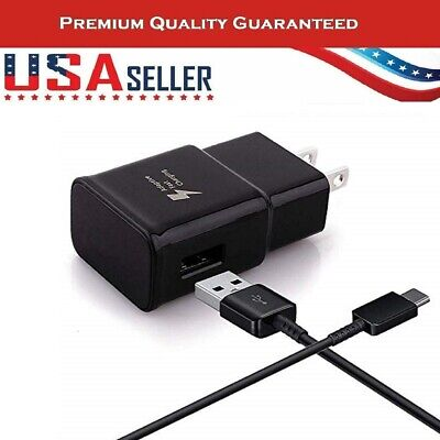 Original Samsung Galaxy S8+ S9+ Note 8 & 9 Fast Oem Wall Charger + Type C Cable