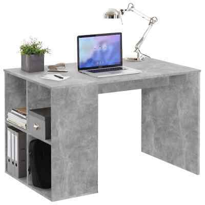 FMD Desk with Side Shelves Concrete Hallway Pier Accent Side Table Display