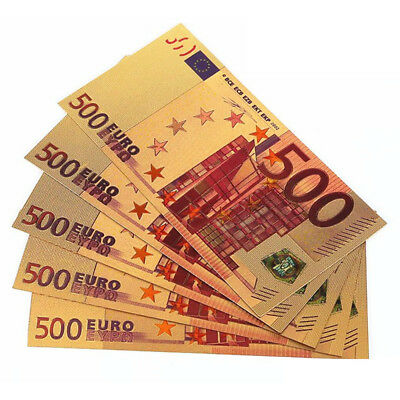 1PC Collectible Value €500 Euro Banknote Bill Paper Money Fake Currency Note