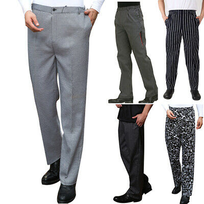 1850411df87200 L~3XL Mens Chef Work Pants Kitchen Baggy Trousers Restaurant Uniform Long  Pants