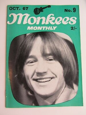 THE MONKEES ORIGINAL MONTHLY No 9 OCTOBER 1967