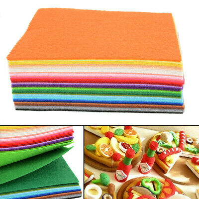 40PC Wool Mix Soft Craft Felt Offcuts Christmas Craft Colour Bargain Fabric Pack