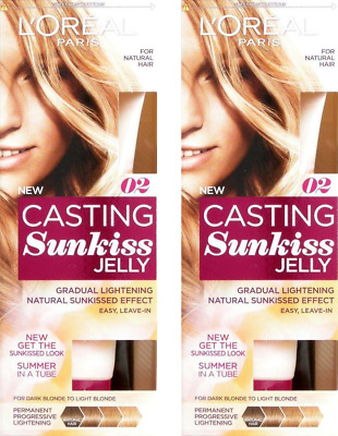 2x L'Oreal Casting Sunkiss Jelly 100ml Natural Hair 02 DarkBlonde to LightBlonde