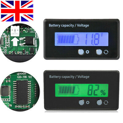 LCD|12V 24V 36V 48V Lead-Acid Battery Status Voltage Voltmeter Monitor Meter Car