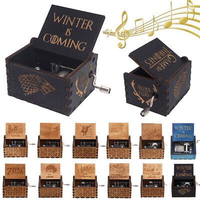 Game of Thrones Wooden Music Box Harry Potter Winter is Coming Toys Kids Gifts