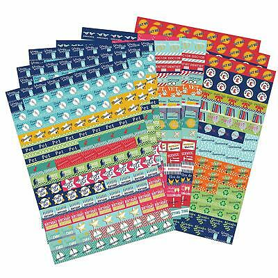 Boxclever Press Bumper Pack of Calendar and Diary Reminder Stickers. 1,152 Organ