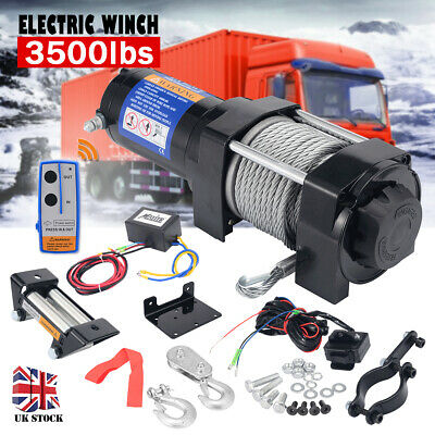 3500LBS Electric Winch 12V Portable ATV 4WD Trailer Boat 4x4 Recovery NEW