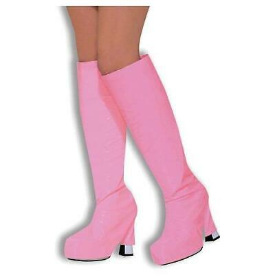 1960's 1970's Fancy Dress Pink Go Go Boot Cover