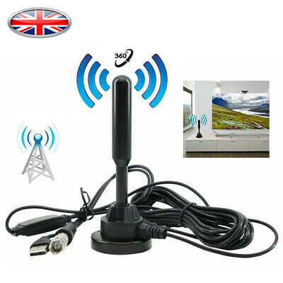 Best Caravan Portable TV Antenna Indoor/Outdoor Digital HD Freeview Aerial Ariel