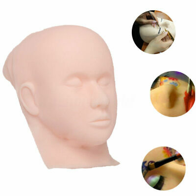 Silicone Practice Flat Makeup Mannequin Head Training Eyelash Extension Painting