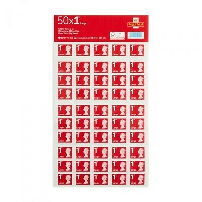 50 x 1st class Royal mail large letter stamps self adhesive