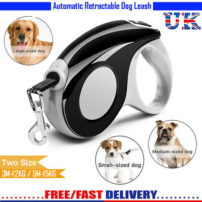 5M 15kg Heavy Duty Pet Dog Automatic Retractable Traction Rope Lead Leash Strap